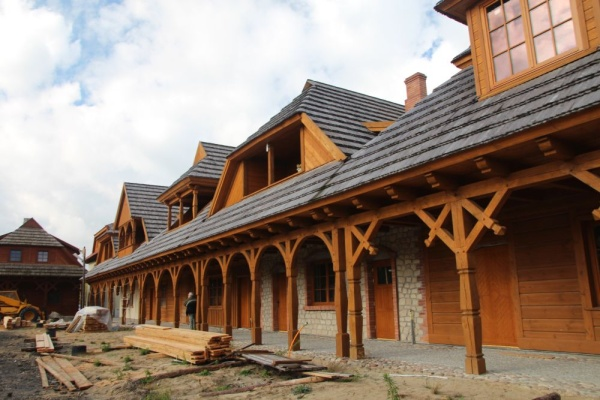 "Reconstruction of the houses with arcades at ""The City on the Trail of Borderland Cultures"" in Biłgoraj"