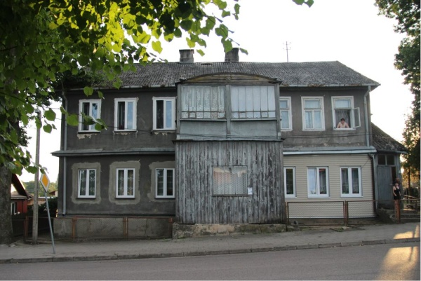A wooden house in Krynki
