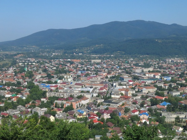 Khust, general view over the city
