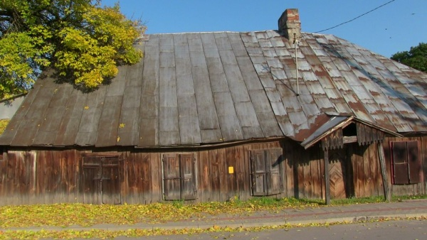 Old wooden house in Kock at Kościuszko street