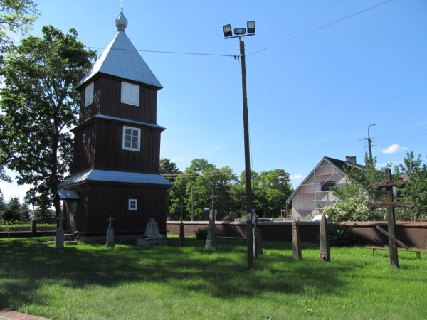 The 19th century bell tower from next to the st Archangel Michael orthodox church in Orla
