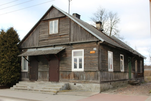 A pre-war wooden house at 29 Rynek street in Knyszyn