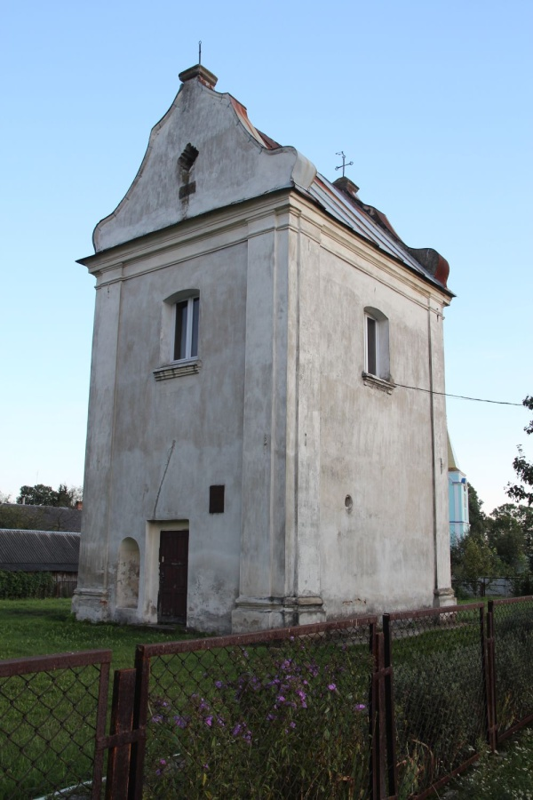 The bell tower of the church of the Holy Trinity in Luboml, view from the north-west side