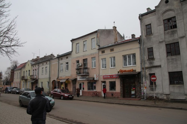 Buildings at the town square of Rohatyn