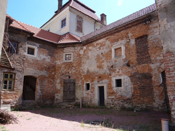 The Zhovkva Castle, in the 17th century a royal residence of Polish king Jan III Sobieski