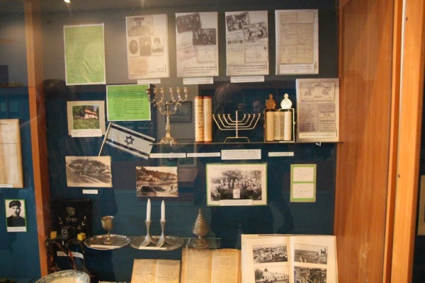 Exhibition of judaica in the local museum in Korets
