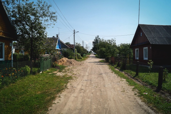 Leningradzka street in Indura, area of the former ghetto