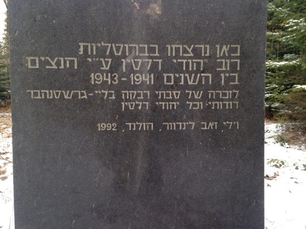 Deliatyn, site of Jews shooting