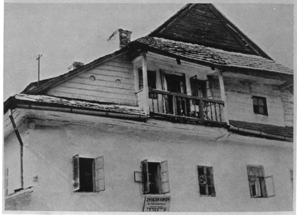 Kremenets, a house - headquarters of the Związek Kupców [Trader's Union]