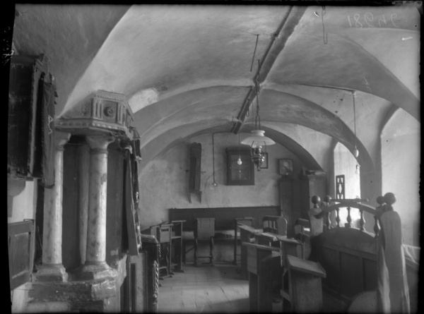 Navahrudak, synagogue interior, women annex