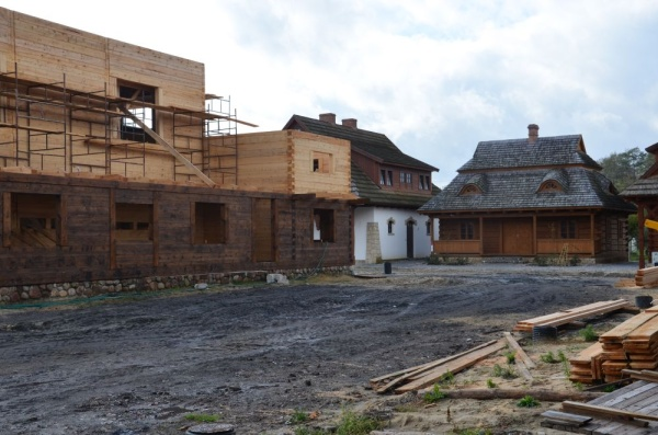 "Biłgoraj, the construction site for ""The City on the Trail of Borderland Cultures"""