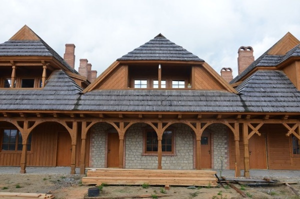"Biłgoraj, ""The City on the Trail of Borderland Cultures"", a reconstruction of the arcaded houses"