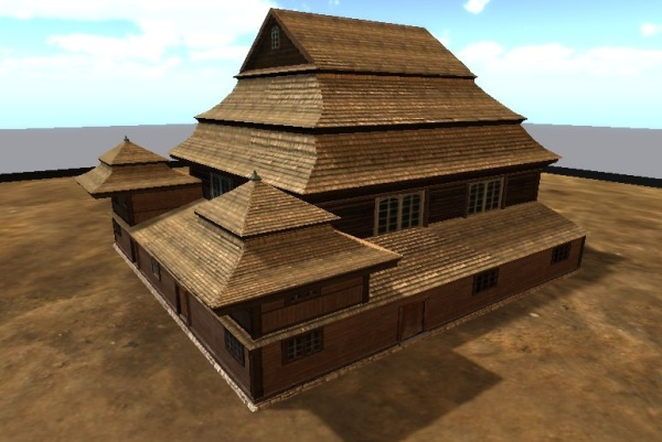 Wooden synagogues - 3D models