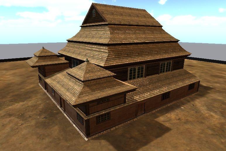 3D-модели деревянных синагог